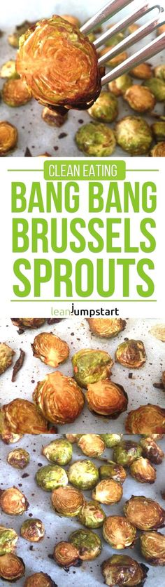 Bang Bang Brussels Sprouts #roastedbrusselssprouts #brusselssprouts #cleaneating via @leanjumpstart http://eatdojo.com/proven-tummy-tightening-foods-burn-fat-fast/