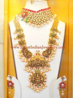 Nakshi Ashta Lakshmi Long Necklace and Heavy Nakshi Waist Belt