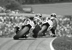 "alfonslx2: "" Barry Sheene & Kenny Roberts Motorcycle grand prix photographic…"