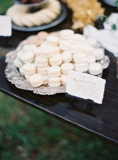 #dessert #display  #earthandsugar #flowers #wedding #flowers  #sweets #styled #table #mini #desserts #macarons #lavender #vanilla #almond