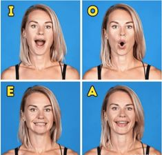 The first noticeable signs of aging are usually wrinkles and loose skin. Your skin elasticity and the contours of your face depending on how well your facial muscles are toned. These muscles need exercise just as much as the rest of your body. Massage Facial, Facial Yoga, Facial Muscles, Beauty Secrets, Beauty Hacks, Beauty Tips, Face Yoga Exercises, Tummy Exercises, Tummy Workout