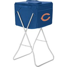 Picnic Time Chicago Bears Party Cube Cooler ($85) ❤ liked on Polyvore featuring home, kitchen & dining, food storage containers, blue, travel accessories, travel coolers and picnic time cooler