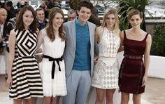 Katie Chang, Taissa Farmiga,Israel Broussard, Claire Julien et Emma Watson (Festival de Cannes 2013)