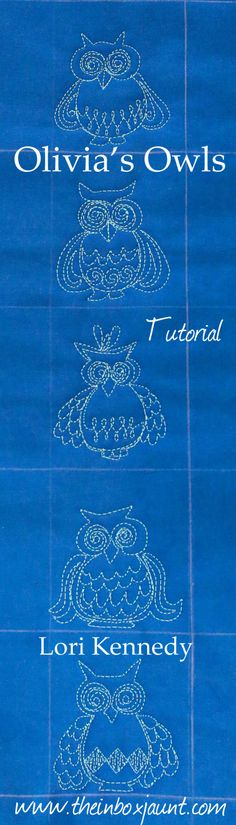 Lots of free motion quilting tutorials