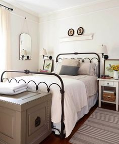 Relaxing French Country Bedroom Design and Decor Ideas that are Full of Charm - Home and Gardens Home Bedroom, Bedroom Decor, Bedroom Ideas, Bedroom Ceiling, Bedroom Designs, Modern Bedroom, Bedroom Furniture, Bed Ideas, Bedroom Styles