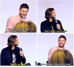 Jensen about JJ :3 | via Facebook