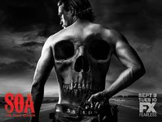 Charlie Hunnam Promotes Sons of Anarchy Final Season with Skull Promo image Sons of Anarchy Charlie Hunnam