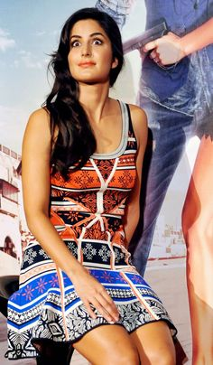 Katrina Kaif giving a surprised look on her face on stage at an event to unveil 'Bang Bang' film's title track. #Bollywood #Fashion #Style #Beauty
