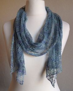 Hand Knitted Silk Lace Wrap Scarf Stole by Snugglescuddles on Etsy, £70.00