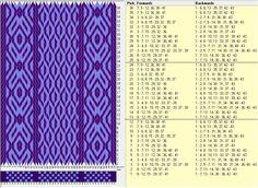 43 tarjetas, 2 colores, repite cada 12 movimientos // sed_377 diseñado en GTT༺❁ .