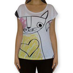 Camiseta Fullprint feita especialmente para mulheres com impressão total frente e costas, gola canoa e o caimento mais soltinho e leve da malha flamê. Não desbota nem encolhe!