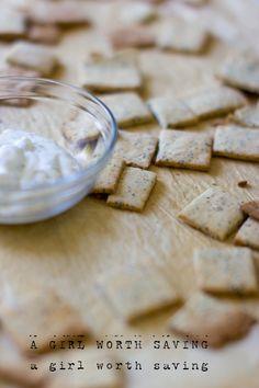 Paleo Garlic Crackers  @A Girl Worth Saving