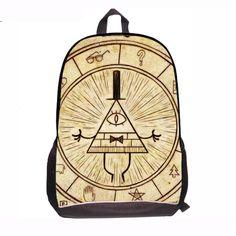 ad62ce85bf6d Children Anime Gravity Falls Backpack Boys Girls Cartoon Adventure Time  Backpacks Kids School Bags Bookbag Daily