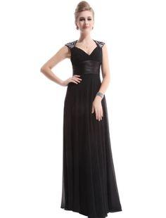 Ever Pretty Chiffon Sexy V-neck Ruffles Empire Line Evening Dress 09672, HE09672BK06, Black, 4US Ever-Pretty,http://www.amazon.com/dp/B00CBRO182/ref=cm_sw_r_pi_dp_QJ1Usb0GV22ZNZP7