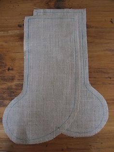 Cozy.Cottage.Cute.: Burlap Stocking Tutorial - Just For You