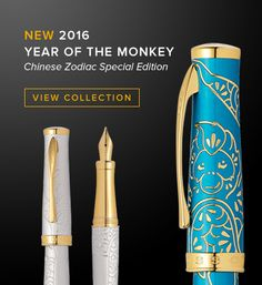 Cross introduces the 2016 Year of the Monkey Special Edition Collection, inspired by the majestic golden snub-nosed monkey. This Chinese Zodiac sign represents status, magic power, and good fortune. Those born under it are recognized for their active spirits and magnetic personalities.