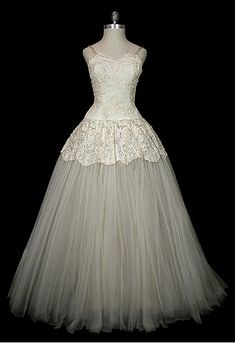 Vintage 1950's Christian Dior wedding gown with <3 from JDzigner www.jdzigner.com
