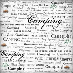 Scrapbook Customs - Sports Collection - 12 x 12 Paper - Camping - Live For at Scrapbook.com
