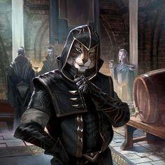 f Tabaxi Rogue Assassin Leather Armor Cloak female urban City Building Embassy Disguise story med Elder Scrolls Skyrim, The Elder Scrolls, Elder Scrolls Games, Elder Scrolls Online, Elder Scrolls Dwemer, Fantasy Rpg, Medieval Fantasy, Dnd Characters, Fantasy Characters