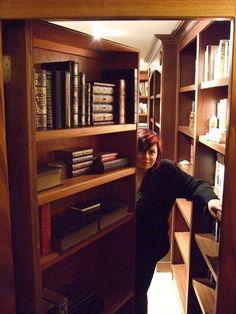 Hidden library behind a bookshelf