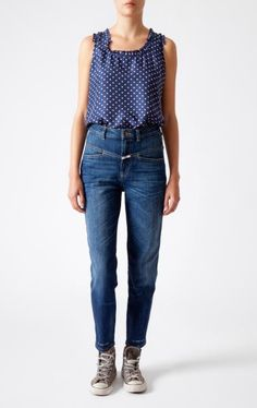 Denim Pants Pedal Pusher by CLOSED