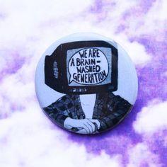 Brainwash Radiohead 1 1/4 Inch Pinback Button by TotallyWickedWear