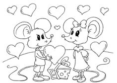 Beautiful Valentine's day online coloring pages for kids. Here you will find coloring pages of love and share it with your loved. Love Coloring Pages, Valentines Day Coloring Page, Online Coloring Pages, Colouring Pics, Coloring Books, Valentines Day Book, Valentine Crafts, Primitive Stitchery, Art Activities For Kids