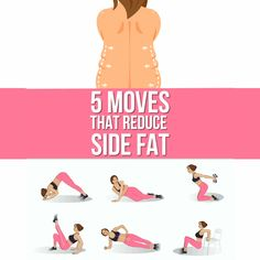 The most effective way to reduce side fat is quite below! 5 moves workout was made to get slimmer waist. Try it on and enjoy the results! Effective 5 Moves to Reduce Side Fat at Home Gym Workout Videos, Gym Workout For Beginners, At Home Workouts, Workout Plans, Ab Workouts, Stomach Exercises, Fitness Herausforderungen, Fitness Workout For Women, Health Fitness