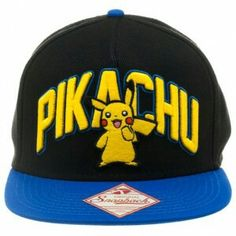 Pokemon Pikachu Snapback Hat One Size Fits Most- Pikachu Hat Brand New  Official Licensed Item Adjustable Snapback Hat One Size Fits Most fdcf95ef15a2