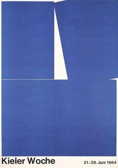 Hillmann, Hans 1925 -. Kieler Woche. Offset 1964. Size: 33 x 23.2 in. (84 x 59 cm). Printer: Wolff, Flensburg.