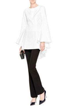 Drape-Back Cotton-Poplin Top by Rosie Assoulin - Moda Operandi