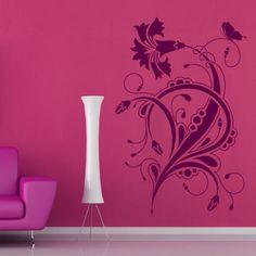 Floral-Design-Wandaufkleber-Wandtattoo-Verzierung-Kunst