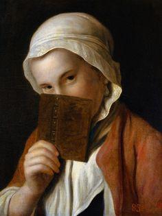"""Pietro Antonio Rotari  """"Portrait of a Girl with a Book"""""""