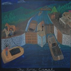 Waldorf ~ 5th grade ~ North America ~ The Erie Canal ~ chalkboard drawing