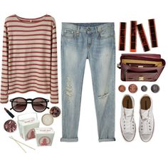 young cardinals. by cauchemar-exquis on Polyvore featuring polyvore fashion style R13 Converse GiGi New York Wildfox The Body Shop Hostess NARS Cosmetics