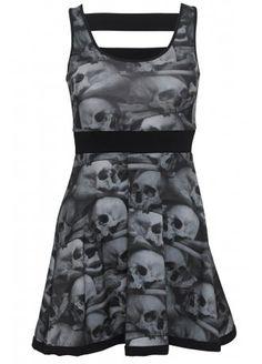 Kreepsville 666 Skull Pile Penny Dress