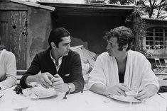 Jean-Paul Belmondo and Alain Delon