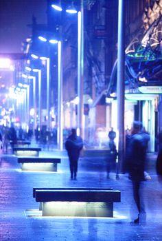 Buchanan street, Glasgow, Grande Bretagne - Lighting design : Speirs + Major - Photo : Paul Bock