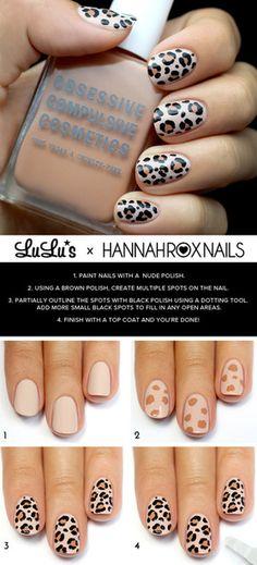 Hannah Rox Nails-Leopard tutorial