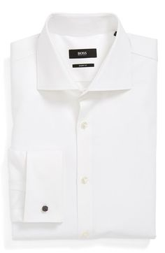 BOSS HUGO BOSS Sharp Fit French Cuff Dress Shirt available at #Nordstrom