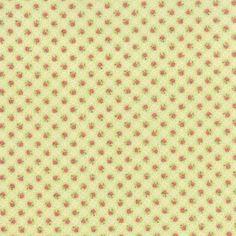 coupon-de-tissu-patchwork-MODA-toutes-petites-fleurs-sur-fond-Vert-45x55cm