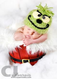 The littlest Grinch Photo by CJ Portraits Handmade props by My Simply Sweet Little Boutique www.facebook.com/MSSLB