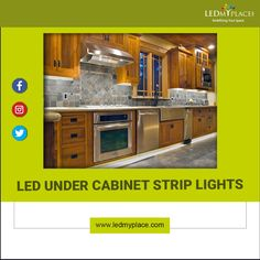 LED Under Cabinet Strip Lights is one of the best lighting fixtures by this you can make your kitchen more modular and attractive. Types Of Lighting, Cool Lighting, Strip Lighting, Led Cabinet Lighting, Kitchen Lighting, Under Cabinet, Interior Lighting, Kitchen Design, Lights
