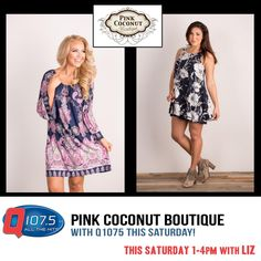 20% OFF Today! Join Liz @ Pink Coconut Boutique this afternoon from 1-4pm http://q1075.com