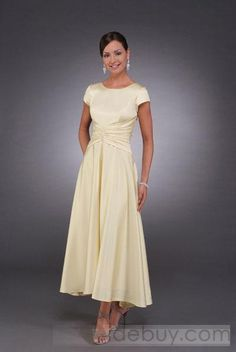 Charming A Line Bateau Ced Short Sleeves Ankle Length Mother Of The Bride Dresses