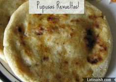 I realized the other day that while I made a video on how to make pupusas de queso and recently shared a recipe for making mini pupusas de queso y frijol, I hadn't posted a recipe or video for Carl...