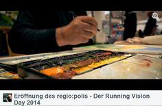 Aquarelle von Frank Koebsch während der regio:polis | Frank Koebsch im Video von Bert Scharffenberg über die Eröffnung des Festivals regio polis (1)