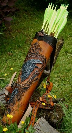 Gorgeous leather quiver