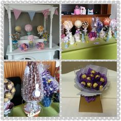 Sweet trees,bouquet and candy cart