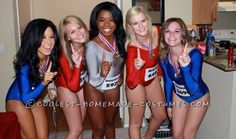 Fab 5 Olympic gymnastics team from 2012 group halloween costume